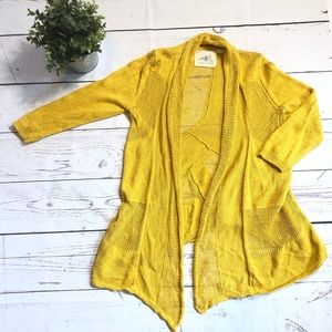 Angel of the North Anthropologie Gold Cardigan - M